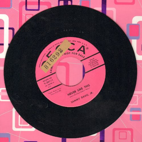 Davis, Sammy Jr. - Never Like This/New York's My Home  (pink label DJ adance pressing)(sol) - EX8/ - 45 rpm Records