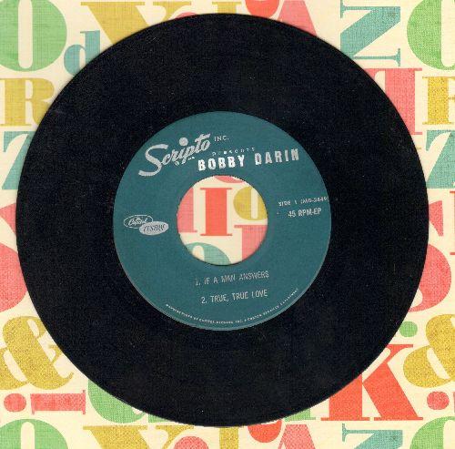 Darin, Bobby - If A Man Answers/True, True Love/Sermon Of Samson/All By Myself (vinyl EP record) - VG7/ - 45 rpm Records