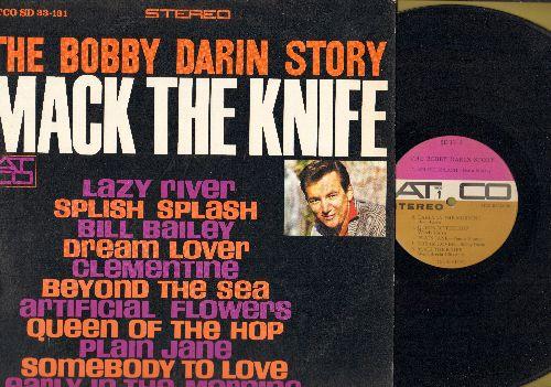 Darin, Bobby - Bobby Darin Story: Splish Splash, Dream Lover, Beyond The Sea, Plain Jane, Bill Baley, Clementine  (Vinyl STEREO LP record, purple/ocre label) - EX8/EX8 - LP Records