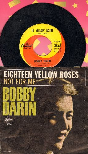 Darin, Bobby - 18 Yellow Roses/Not For Me (with picture sleeve) - NM9/VG7 - 45 rpm Records
