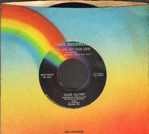 Daltrey, Roger - Come And Get Your Love/Heart-S Right (with MCA company sleeve) - EX8/ - 45 rpm Records