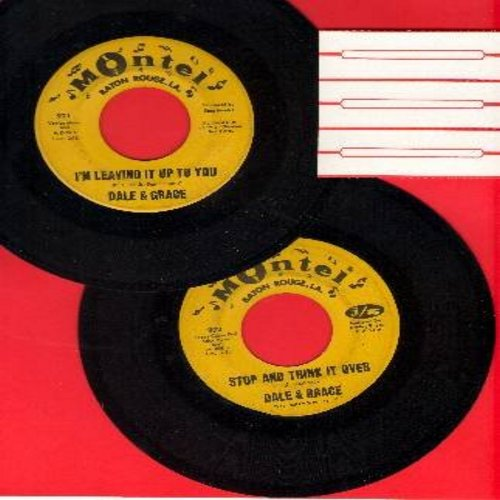 Dale & Grace - 2 for 1 Special: I'm Leaving It Up To You/Stop And Think It Over (2 vintage first issue 45rpm records for the price of 1!) - EX8/ - 45 rpm Records