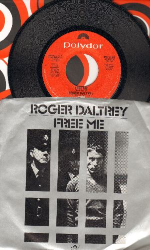 Daltry, Roger & Chorus - Free Me/McVicar (with picture sleeve) - NM9/NM9 - 45 rpm Records