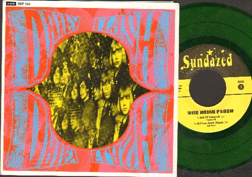 Daily Flash - Jack Of Diamonds/Girl From North Alberta/Grizzely Bear/When I Was A Cowboy (Green Vinyl EP record with picture cover, re-issue of vintage Psychedelic recordings) - NM9/NM9 - 45 rpm Records
