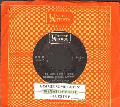 Davis, Spencer Group - Gimme Some Lovin'/Blues In F (with juke box label and United Artists company sleeve) - NM9/ - 45 rpm Records
