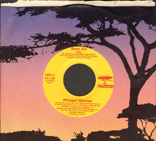 Damian, Michael - Rock On (Bang A Gong)/Where Is She? (with Cypress company sleeve) - M10/ - 45 rpm Records