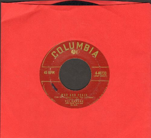 Damone, Vic - War And Peace/Speak, My Love (burgundy label first issue) - VG7/ - 45 rpm Records