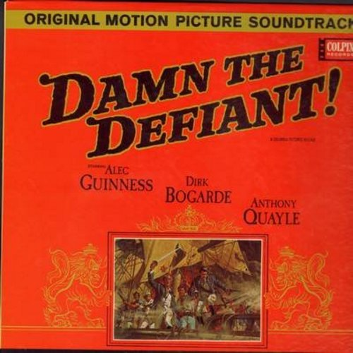 Damn The Defiant! - Damn The Defiant! - Original Motion Picture Sound Track, Music composed by Clifton Parker, conducted by Muir Mathieson (Vinyl MONO LP record) - NM9/VG7 - LP Records