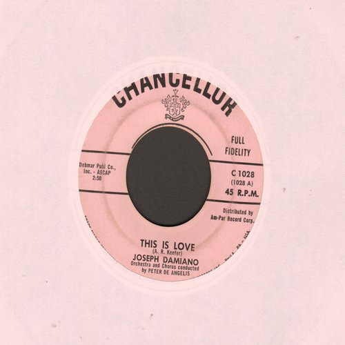 Damiano, Joe - This Is Love (ULTRA-DREAMY Teen-Idol Sound!)/Rumors - VG6/ - 45 rpm Records