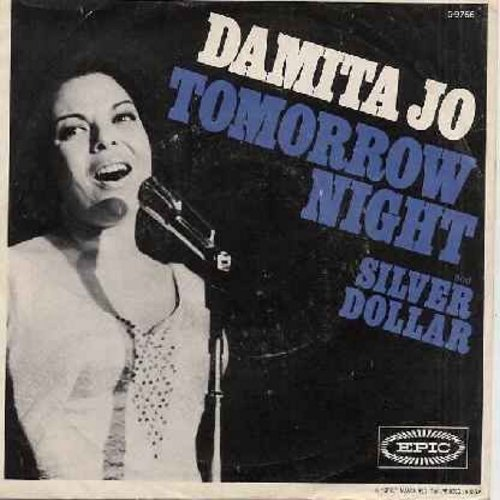 Damita Jo - Tomorrow Night/Silver Dollar (with picture sleeve) - M10/EX8 - 45 rpm Records