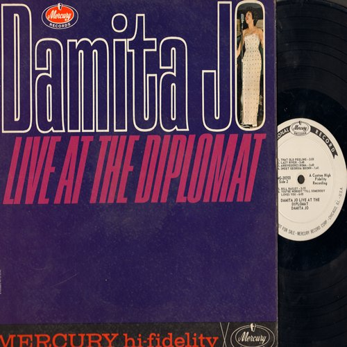 Damita Jo - Live At The Diplomat: The Masquerade Is Over, Twist With Me Henry, Sweet Georgia Brown, Bill Bailey, I'll Save The Last Dance For You (Vinyl MONO LP record, DJ advance pressing) - VG7/VG7 - LP Records