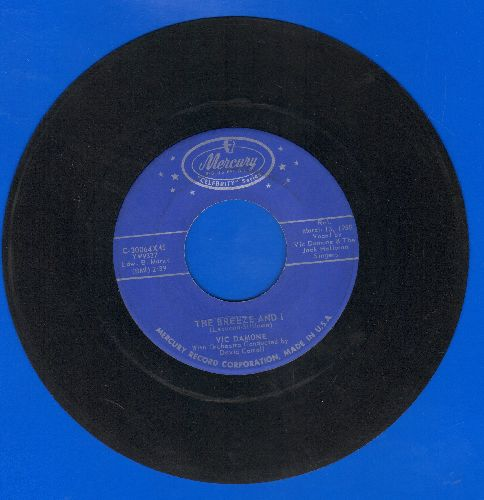 Damone, Vic - The Breeze And I/April In Portugal (double-hit re-issue) - EX8/ - 45 rpm Records