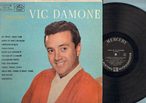 Damone, Vic - The Voice Of Vic Damone: Serenade In Blue, Vagabond Shoes, Por Favor, That Old Feeling, Simonetta (Vinyl MONO LP record) - NM9/EX8 - LP Records