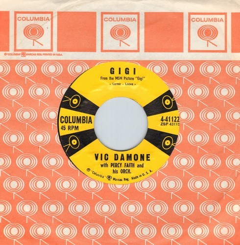 Damone, Vic - Gigi/Life Does A Man A Favor (MINT condition with vintage Columbia company sleeve) - EX8/ - 45 rpm Records