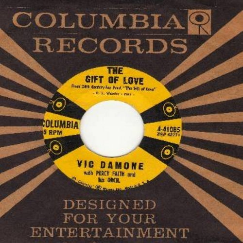 Damone, Vic - The Gift Of Love/Unafraid (with columbia company sleeve) - NM9/ - 45 rpm Records