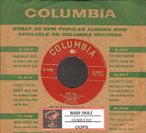 Day, Doris - Baby Doll/Oops (both songs from -The Belle Of New York- )(with vintage Columbia company sleeve, sol) - EX8/ - 45 rpm Records