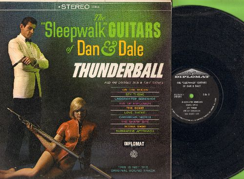 Sleepwalk Guitars Of Dan & Dale - Thunderball: Scuba Swim, Spy Theme, The Bomb, Caribbean Nights (vinyl STEREO LP record) - EX8/NM9 - LP Records