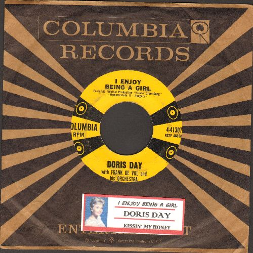 Day, Doris - I Enjoy Being A Girl/Kissin' My Honey (with vintage Columbia company sleeve and juke box label) - EX8/ - 45 rpm Records