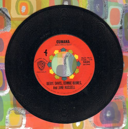 Davis, Beryl, Connie Haynes & Jane Russell - Cumana/Cumana Boogie  - NM9/ - 45 rpm Records