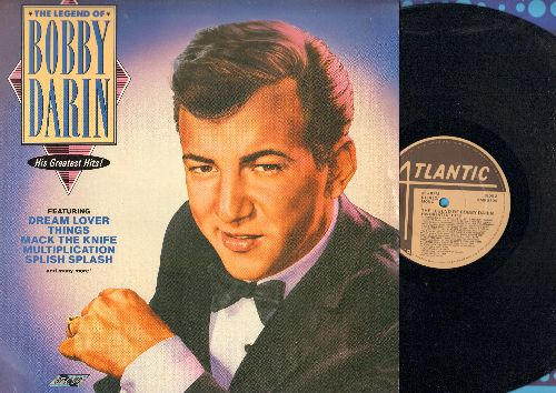 Darin, Bobby - The Legend Of Bobby Darin - His Greatest Hits: Dream Lover, Mack The Knife, Slish Splash, Beyond The Sea, Baby Face (vinyl LP record, re-issue of vintage recordings) - NM9/NM9 - LP Records