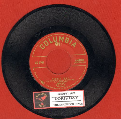 Day, Doris - Secret Love/The Deadwood Stage (with juke box label) - VG7/ - 45 rpm Records