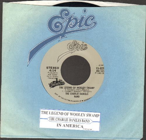Daniels, Charlie Band - The Legend Of Whooley Swamp/In America (double-hit re-issue with juke box label and Epic company sleeve) - NM9/ - 45 rpm Records