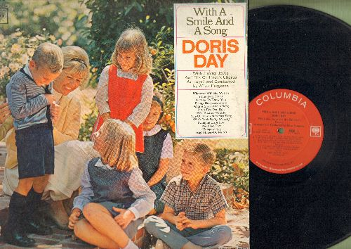 Day, Doris - With A Smile And A Song: Give A Little Whistle, Zip-A-Dee-Doo-Dah, Swinging On A Star, High Hopes (vinyl MONO LP record) - VG7/EX8 - LP Records