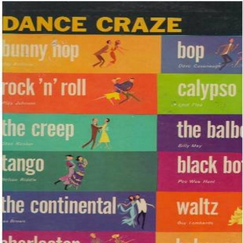 Anthony, Ray, Pee Wee Hunt, Nelson Riddle, Pee Wee Hunt, others - Dance Craze: Bunny Hop, The Creep, Charleston, Black Bottom, Hokey Pokey, Tango, The Continental (Vinyl MONO LP record) - EX8/VG7 - LP Records