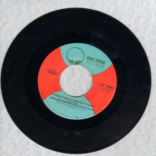 England Dan & John Ford Coley - I'd Really Love To See You Tonight/It's Not The Same - EX8/ - 45 rpm Records