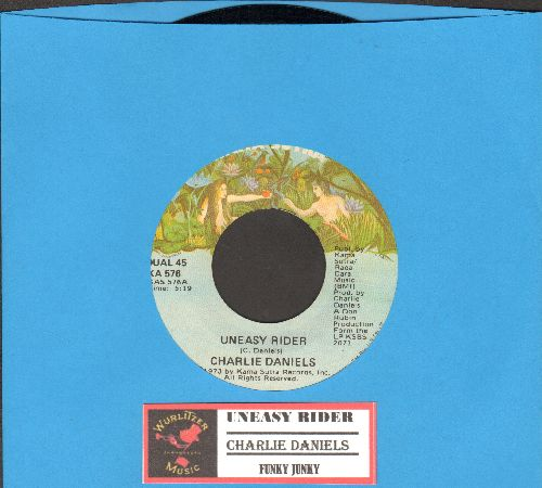 Daniels, Charlie - Uneasy Rider/Funky Junky (1973 first pressing with juke box label) - EX8/ - 45 rpm Records