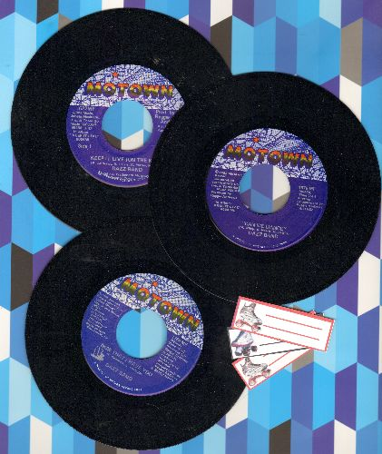 Dazz Band - Dazz Band 3-Pack. Hits include Can We Dance/Now That I Have You/Keep It Live (One The K.I.L.) - First pressings shipped in plain white paper sleeves with 4 blank juke box labels. - NM9/ - 45 rpm Records