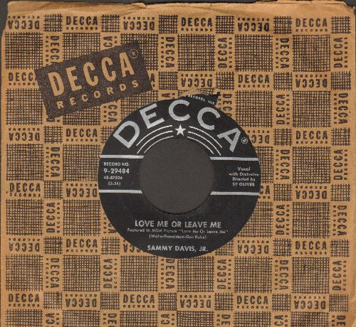 Davis, Sammy Jr. - Love Me Or Leave Me/Something's Gotta Give (with Decca company sleeve) - VG7/ - 45 rpm Records