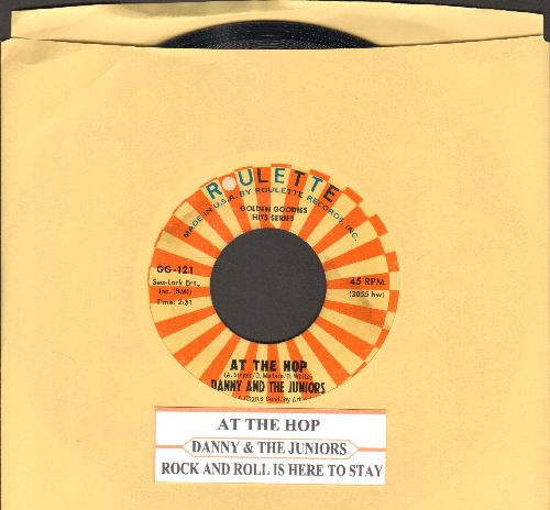 Danny & The Juniors - At The Hop/Rock & Roll Is Here To Stay (double-hit re-issue with juke box label)) - NM9/ - 45 rpm Records