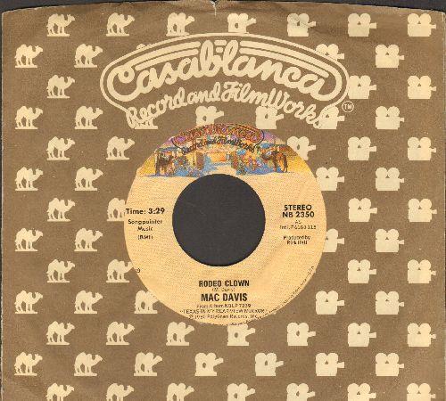Davis, Mac - Rodeo Clown/Dammit Girl (with Casablanca company sleeve) - NM9/ - 45 rpm Records