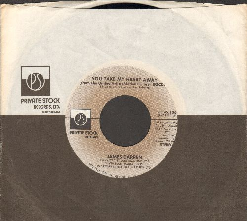 Darren, James - You Take My Heart Away (6:05 minutes Extended Disco Version)/(3:34 minutes Radio Version) (with Private Stock company sleeve) - NM9/ - 45 rpm Records