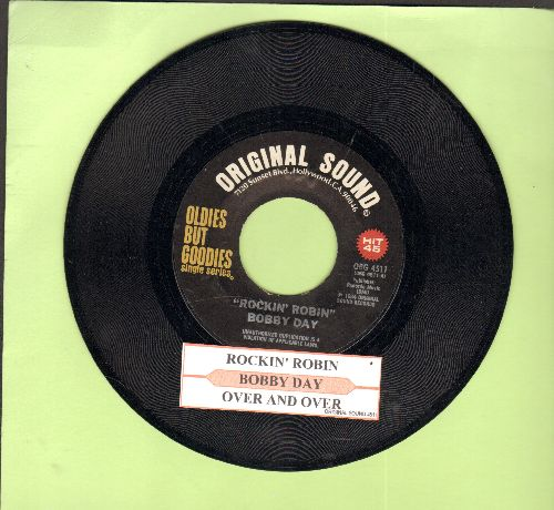 Day, Bobby - Rockin' Robin/Over And Over (double-hit re-issue with juke box label) - NM9/ - 45 rpm Records