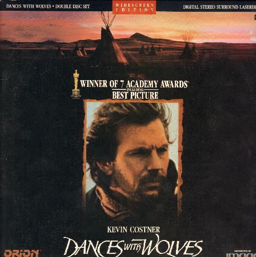 Dances With Wolves - Dances With Wolves - Winner of 7 Academy Awards, including Best Picture, 2 LASER DISC set in gate-fold cover (These are LASER DISCS, not any other kind of media!) - NM9/EX8 - Laser Discs