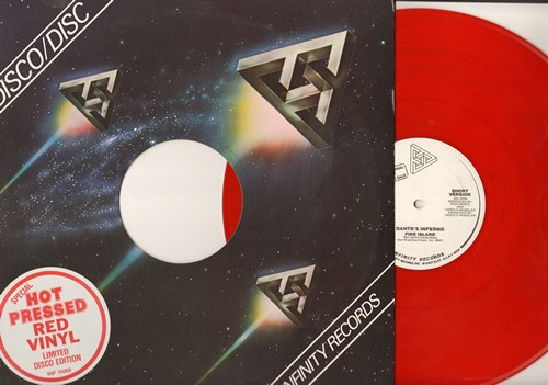 Dante's Inferno - Fire Island (6:42 Extended Disco Version)/Fire Island (3:45 version) (12 inch RED vinyl Maxi Single, DJ advance pressing) - M10/ - Maxi Singles