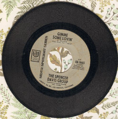 Davis, Spencer Group - Gimme Some Lovin'/Blues In F (early re-issue) - VG7/ - 45 rpm Records