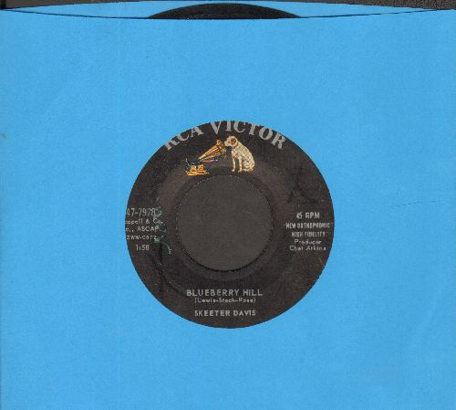 Davis, Skeeter - Blueberry Hill/Optimism  - VG7/ - 45 rpm Records