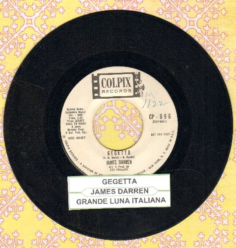 Darren, James - Gegetta/Grande Luna Italiana (DJ pressing with juke box label) - VG7/ - 45 rpm Records