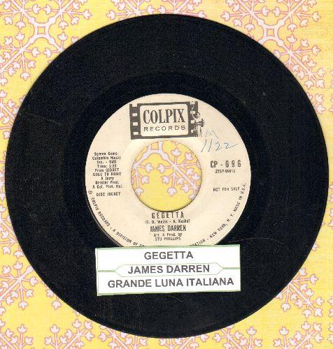 Darren, James - Gegetta/Grande Luna Italiana (DJ pressing with juke box label) - VG7/ - 45 rpm Records