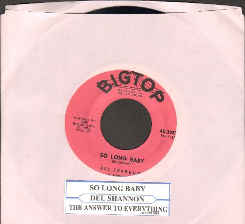 Shannon, Del - So Long Baby/The Answer To Everything (with juke box label) - NM9/ - 45 rpm Records