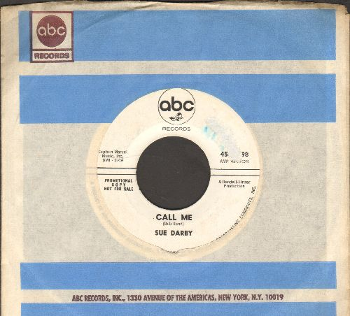 Darby, Sue - Can't Get Enough Of You Baby/Call Me (RARE 60s Female Soul 2-sider, DJ advance pressing with ABC company sleeve) - NM9/ - 45 rpm Records