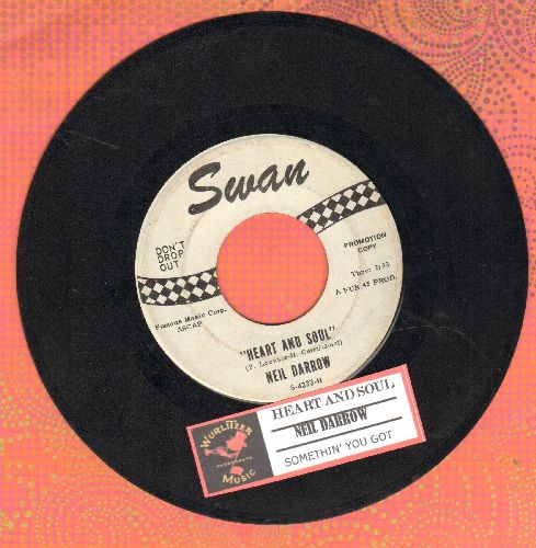 Darrow, Neil - Heart And Soul/Somethin' You Got (with juke box label) - EX8/ - 45 rpm Records