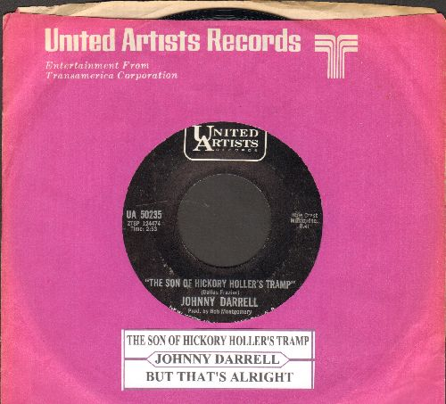Darrell, Johnny - The Son Of Hickory Hollers Tramp/But That's Alright (with juke box label United Artists company sleeve) - M10/ - 45 rpm Records