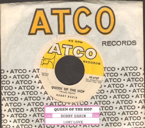 Darin, Bobby - Queen Of The Hop/Lost Love (with juke box label and vintage Atco company sleeve) - EX8/ - 45 rpm Records