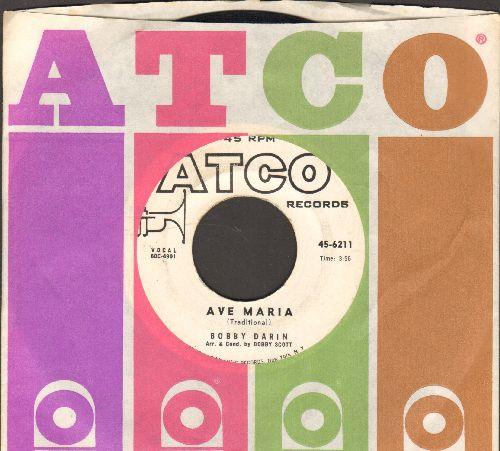 Darin, Bobby - Ave Maria/O Come All Ye Faithful (DJ advance pressing with company sleeve) - EX8/ - 45 rpm Records