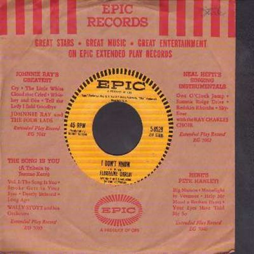 Darlin, Florraine - I Don't Know/Long As The Rose Is Red (with vintage Epic company sleeve) - NM9/ - 45 rpm Records
