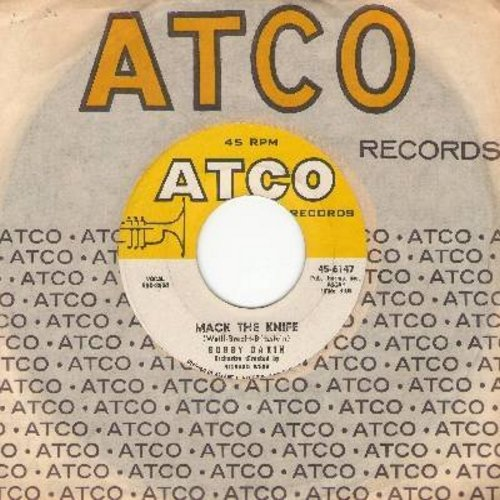 Darin, Bobby - Mack The Knife/Was There A Call For Me (with Atco company sleeve) - EX8/ - 45 rpm Records
